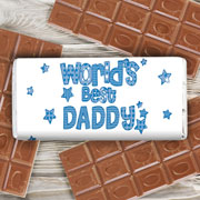 Patterns Worlds Best... Chocolate Bar - Free Delivery