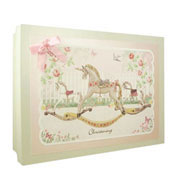 Girls Christening Rocking Horse Keepsake Box