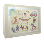 Boys Toys Christening Keepsake Box
