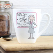 Personalised Whiteboard Teacher Mug - Pink or Blue