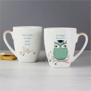Owl Teacher Small Latte Personalised Mug Mr or Mrs