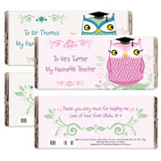 Mr or Mrs Owl Teacher Personalised Chocolate Bar