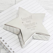 Personalised Worlds Best Teacher Star Paperweight