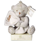 Personalised Button Corner Teddy