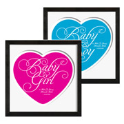 Framed Baby Girl / Baby Boy Print