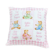 Personalised Teddy Poem Cushion