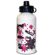 Too Cool Girls Personalised Drinks Water Bottle