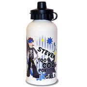 Too Cool Boys Personalised Drinks Water Bottle