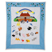 Noahs Ark Nursery Quilt Swedish Baby Gift by Oskar and Ellen