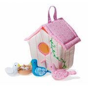 Fabric Bird House Soft Play Set by Oskar and Ellen