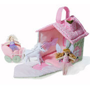Pretty Fabric Fairy Cottage Play Set by Oskar and Ellen
