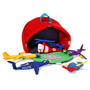 Fabric Aircraft Hangar Playset by Oskar and Ellen