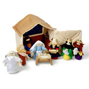 Fabric Christmas Nativity Play Set by Oskar and Ellen