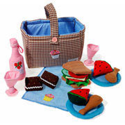 Picnic Hamper Play Set Toy by Oskar and Ellen