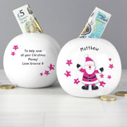 Starry Santa Christmas Moneybox