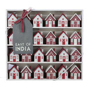 Wooden Advent Village Calendar by East of India