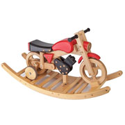 3 in 1 Rocker Ride Painted Wooden Training Bike