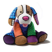Britto Pop Plush Pablo Puppy (Medium)