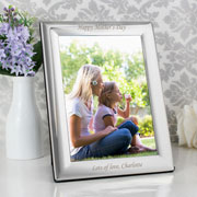 Plain Engraved Silver Plated 7 x 5 Photo Frame