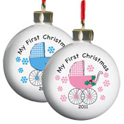 Exclusive My First Christmas Personalised Pram Bauble