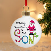 Exclusive Son Personalised Christmas Tree Bauble