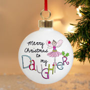 EXCLUSIVE - Goddaughter Personalised Christmas Tree Bauble