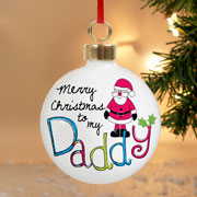 Exclusive Daddy Personalised Christmas Tree Bauble