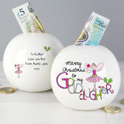 Exclusive Goddaughter Christmas Moneybox