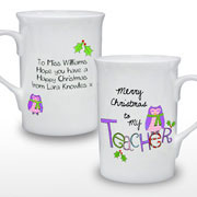 Exclusive Teachers Personalised Christmas Mug Male or Femal