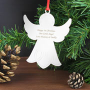 Engraved Angel Tree Decoration
