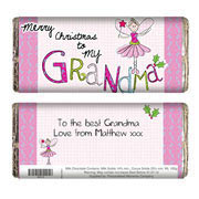 EXCLUSIVE - Grandma Christmas Chocolate Bar - Free Del