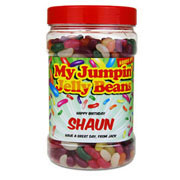My Jumping Jelly Bean Jar - Personalised Jar of Sweets