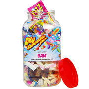 Personalised Retro Sweeties Jar - Large