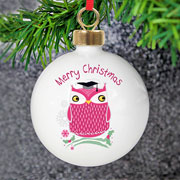 Christmas Owl Teacher Tree Bauble