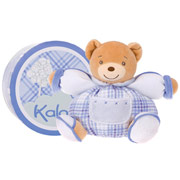 Kaloo Blue Small Chubby Bear with Pocket