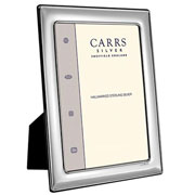 Carrs Plain Sterling Silver Photo Frame 5 x 7 Inch