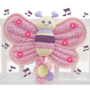Billowy Butterfly Music & Lights Cot Toy by Little Bird Told