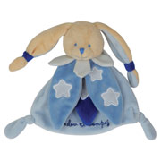 Glow in the Dark Blue Rabbit Doudou