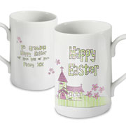 Personalised Church Happy Easter Mug