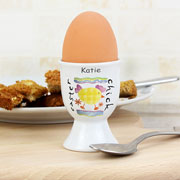 Personalised Easter Chick China Egg Cup