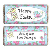 Daffodil & Floral Chick Easter Chocolate Bar - Free Delivery