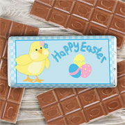 Easter Chick Personalised Chocolate Bar - Free Delivery