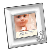 Sterling Silver Teddy Bear Frame (Mahogany Back)