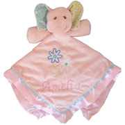 Personalised Embroidered Ella Bella Elephant Baby Comforter