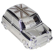 Engraved Union Jack Mini Moneybox