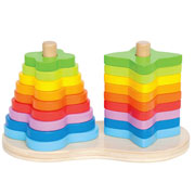 Double Rainbow Stacker by Hape