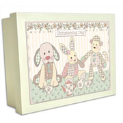 Little Feet Christening Wooden Keepsake Box