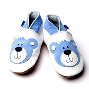 Inch Blue Teddy Soft Leather Shoes (Blue)