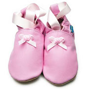 Inch Blue Rosebud Ballet Soft Leather Shoes
