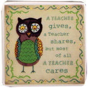 Teacher Cares Magnet